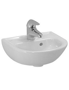 Pro B 500 x 360mm 1 Tap Hole Small Washbasin