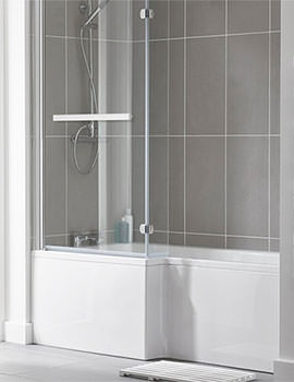 Essential Kensington 1700 x 850mm L Shape Shower Bath Pack - Left Hand