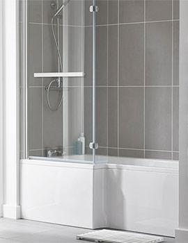 Kensington 1500 x 850mm L Shape Shower Bath Pack - Left Hand