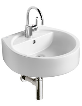 White Round 1 Tap Hole Basin 500mm - E0007