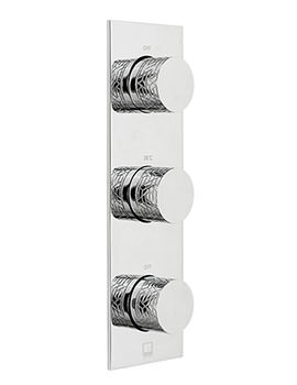Omika 2 Outlet And 3 Handle Vertical Concealed Thermostatic Valve
