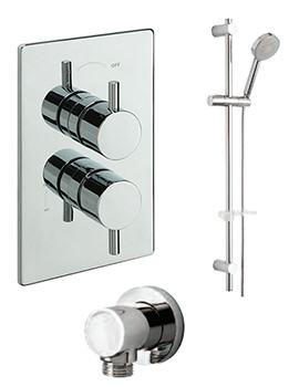 Bella Concealed Valve With Slide Rail Kit And Wall Outlet