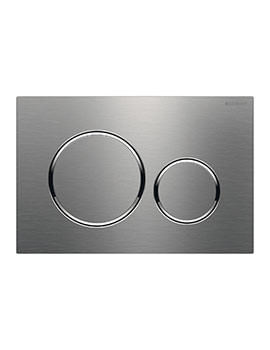 Sigma20 246 x 164mm Stainless Steel Dual Flush Plate