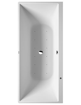 DuraSquare 1800 x 800mm Back To Wall Whirltub With Air System