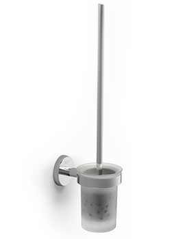 Twin 76 x 115mm Wall Mounted Toilet Brush And Holder