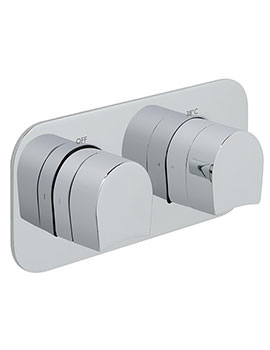 Kovera Horizontal Concealed 1 Outlet 2 Handle Thermostatic Valve