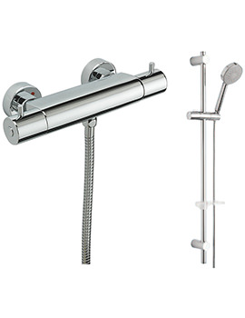 Bella Exposed Thermostatic Shower Valve And Slide Rail Kit