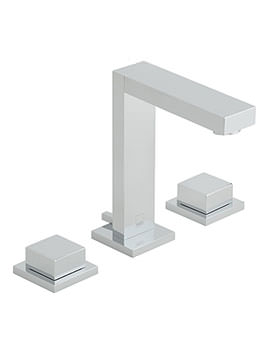 Notion 3 Hole Basin Mixer Tap With Square Handles