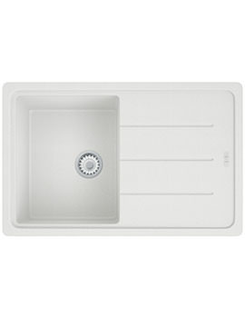 Basis Propack BFG 611-780 Polar White Fragranite Kitchen Sink And Tap