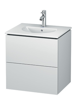 L-Cube Wall Mounted 2 Drawer Vanity Unit For Darling New Basin