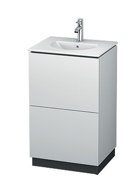L-Cube 520mm Floor Standing Vanity Unit With Darling New Basin