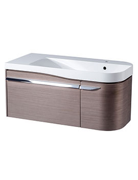 Cirrus 900mm Fine Line Grey Unit With Basin Right Hand