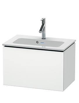 L-Cube 620mm Compact Vanity Unit With Me By Starck Basin