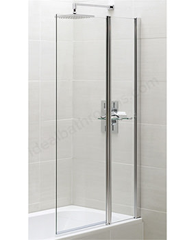 Spring 900 x 1500mm Square Bath Screen With Fixed Panel
