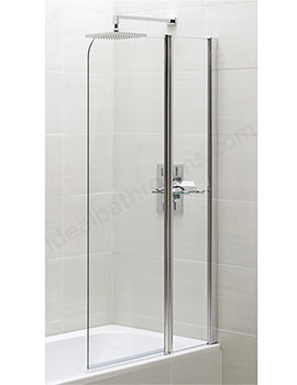 Spring 900 x 1500mm Half Radius Bath Screen With Fixed Panel