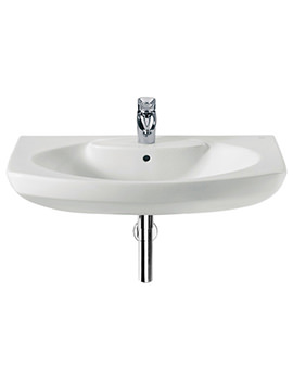 Senso 800 x 530mm Wall Hung Basin With 1 Taphole
