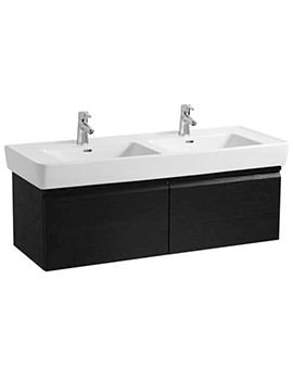 Laufen Pro 1220mm 2 Drawer Wenge Vanity Unit With 2 Interior Drawer