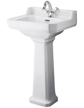 Bayswater Fitzroy 500mm Wall Hung Basin With 1 Taphole
