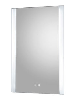 Glamour 500 x 700mm Touch Sensor LED Mirror With Demister Pad