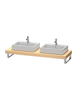 Fogo 800 x 550mm Brushed Oak 2 Cut Out Console For Countertop Basin