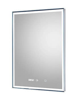 Lustre Touch Sensor LED Mirror With Clock And Demister Pad