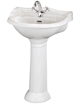 Porchester 600mm Wall Hung Basin With 1 Taphole