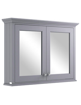 Bayswater 1050mm Plummett Grey Wall Mounted Mirror Cabinet