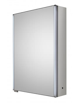 Meloso 500 x 700mm Silver Single Door Mirror Cabinet