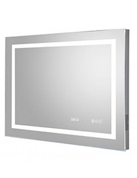 Prisma 800 x 600mm LED Mirror Glass With Digital Clock