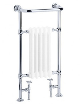 Taurus Chrome And White Towel Warmer 540 x 965mm