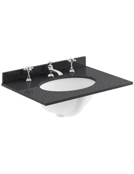 Bayswater 600mm Black Marble Top Single Bowl Basin With 3 Taphole -