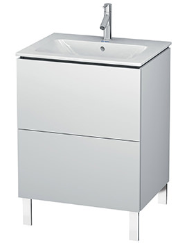 L-Cube 2 Drawer Floor Standing Vanity Unit for Me By Starck Basin