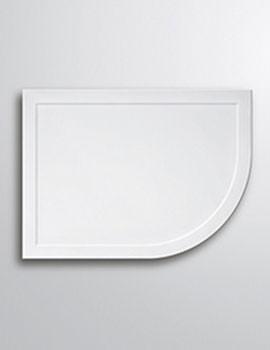 Contemporary Light Weight Offset Quadrant Tray 900 x 800mm - Left Hand