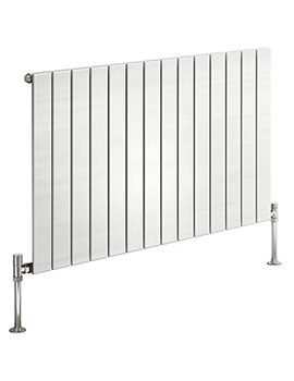 Reina Flat 600mm High Single Panel Horizontal Steel Designer Radiator