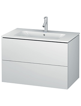 Duravit L-Cube 820mm 2 Drawers Vanity Unit With Me By Starck Basin