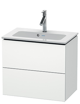 L-Cube Wall Mounted Compact 2 Drawer Vanity Unit For Me By Starck Basin