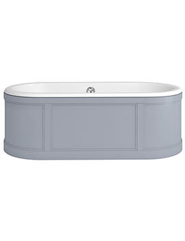 London 1800 x 850mm Bath With Grey Curved Surround