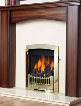 Flavel Rhapsody Slide Control Natural Gas Fire Brass Finish