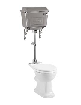 Rimless Pan With Aluminium Cistern And Medium-Level Flush Pipe Kit