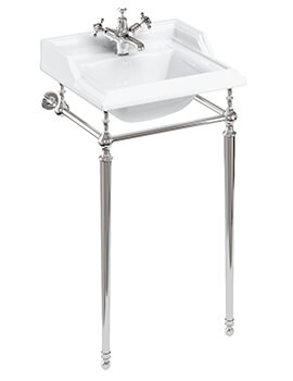 Classic Basin 500mm Basin With Chrome Wash Stand