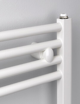 Aldgate Straight White Towel Rail 400 x 700mm