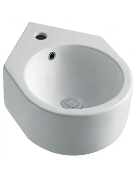 Arco Cloakroom Corner Basin With 1 Tap Hole