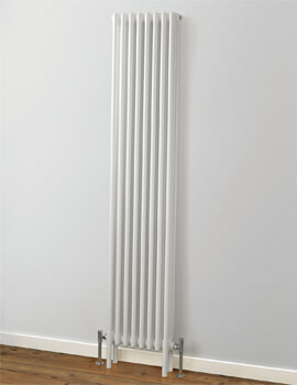 MHS Rads 2 Rails Fitzrovia 2 Column Vertical Radiator 1800mm Height