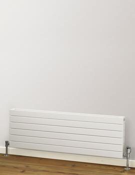 Rads 2 Rails Primrose White Single Panel Horizontal Radiator 1000 x 288mm