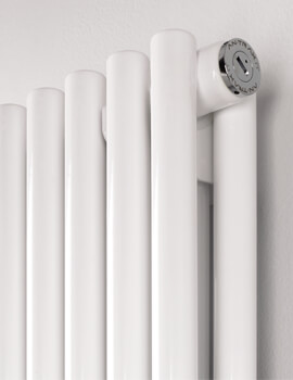 MHS Rads 2 Rails Battersea 1800mm High Double Panel Vertical White Radiator