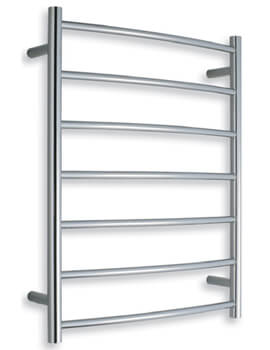 Warmup Curved 600 x 800mm Heated Electric Towel Rail