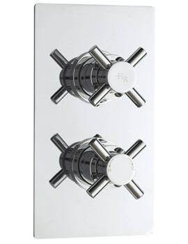 Kristal Twin Concealed Thermostatic Shower Valve