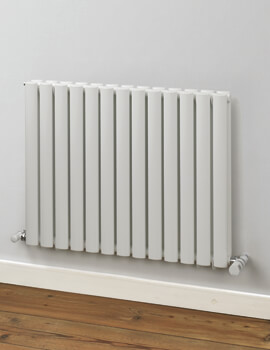 MHS Rads 2 Rails Finsbury 600mm High Horizontal Single Radiator