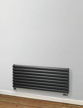 MHS Rads 2 Rails Finsbury Horizontal 600mm Height Double Radiator