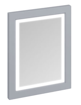 600mm Matt White Framed Mirror With LED Illumination